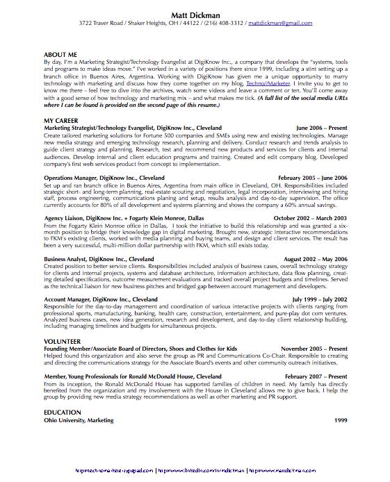 MattDickmancom The social media resume